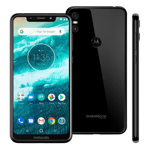 Imagem de Smartphone Motorola Moto one, Preto, XT1941, Tela de 5,9