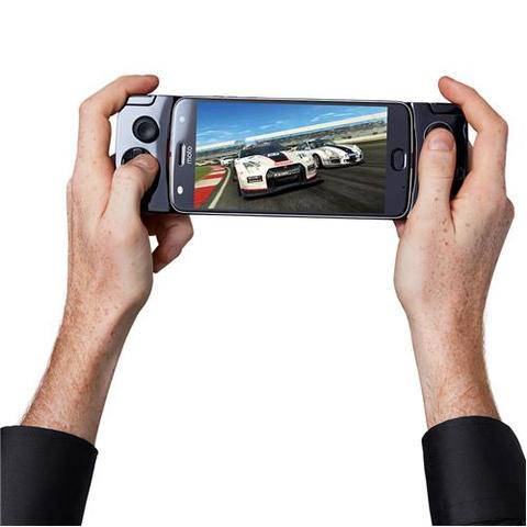 Imagem de Smartphone Motorola Moto Z2 Play GamePad Edition Platinum 64GB, Tela 5.5'', Dual Chip, Câmera 12MP, Android 7.1, Process