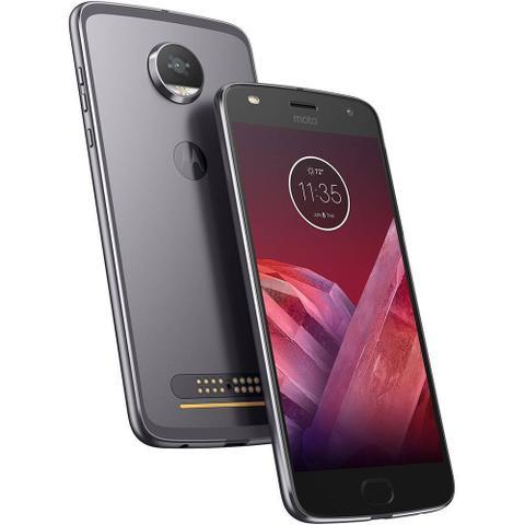 Imagem de Smartphone Motorola Moto Z2 Play XT1710 Platinum com 64GB Tela de 5.5 Dual Chip Câmera 12MP Android 7.1 Processador Octa-Core e 4GB de RAM