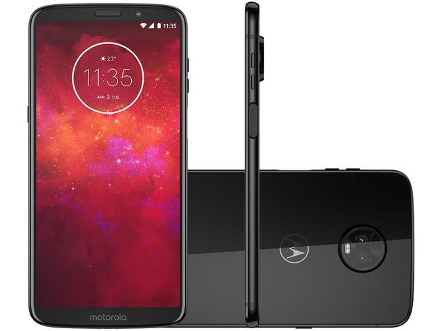 Imagem de Smartphone Motorola Moto Z3 Play 128GB Ônix 4G