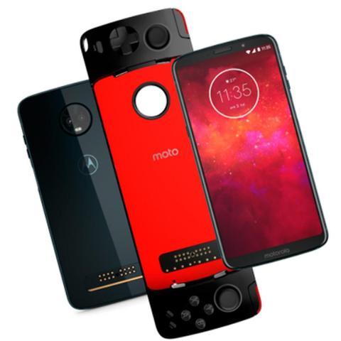 Imagem de Smartphone Motorola Moto Z3 Play Gamepad Edition, Índigo, Tela 6.1