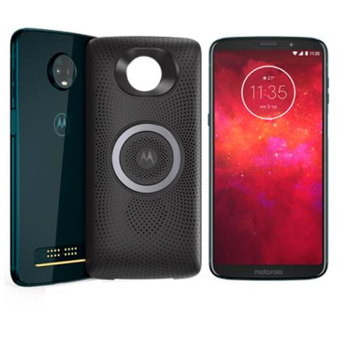 Imagem de Smartphone Motorola Moto Z3 Play Stereo Speaker, Índigo, Tela 6.1