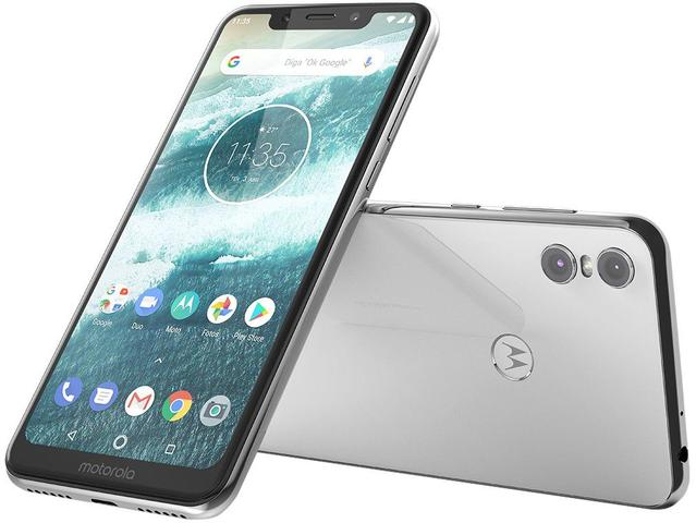 792eb525d Smartphone Motorola One 64GB Branco 4G Qualcomm - 4GB RAM Tela 5
