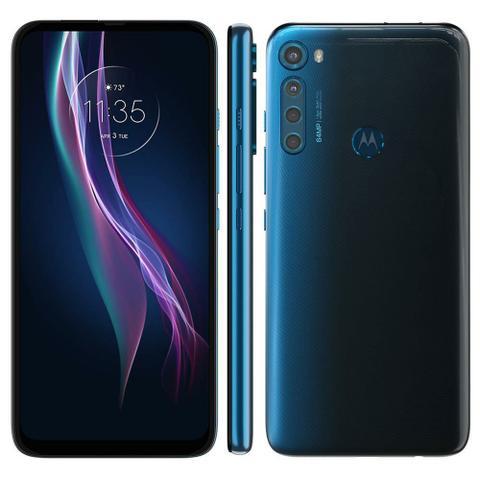 """Imagem de Smartphone Motorola One Fusion+ 128GB 4GB RAM 4G Câm. Quádrupla Tela 6.5"""" Azul Indigo"""