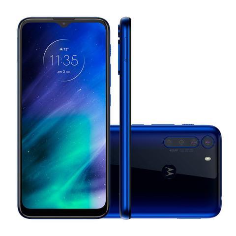 Imagem de Smartphone Motorola One Fusion Dual Chip Android tela 6.5 128GB Wi-Fi Câmera 48MP + 8MP - Azul