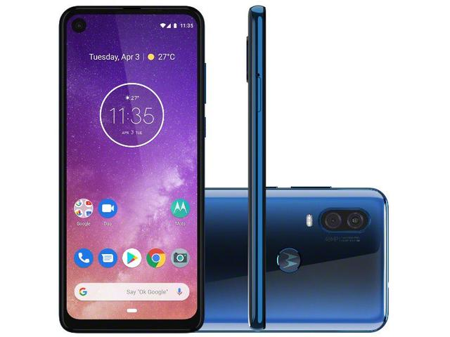 Imagem de Smartphone Motorola One Vision 128GB Azul Safira