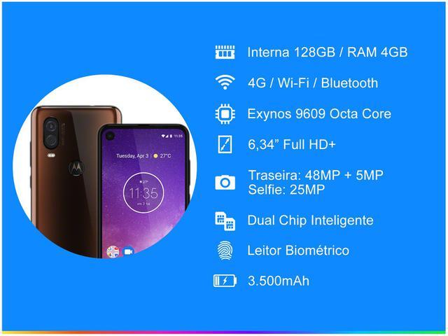 Imagem de Smartphone Motorola One Vision 128GB Bronze