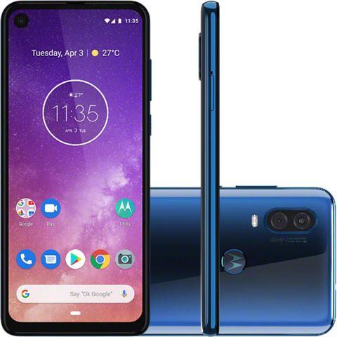 Imagem de Smartphone Motorola XT1970 Moto One Vision Azul 128 GB