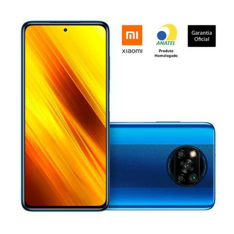 Celular Smartphone Xiaomi Poco X3 Nfc 64gb Azul - Dual Chip