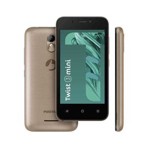 Celular Smartphone Positivo Twist Mini S431b 16gb Dourado - Dual Chip