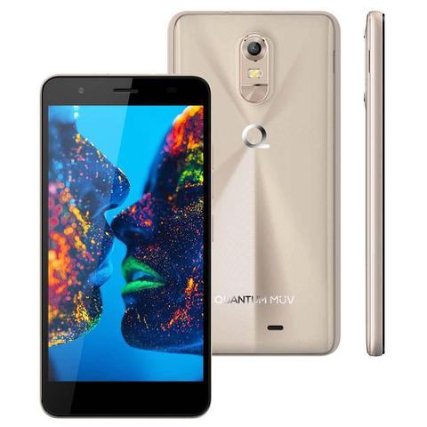 Imagem de Smartphone Quantum MÜV PRO Mirage Gold, Dual Chip, 5.5