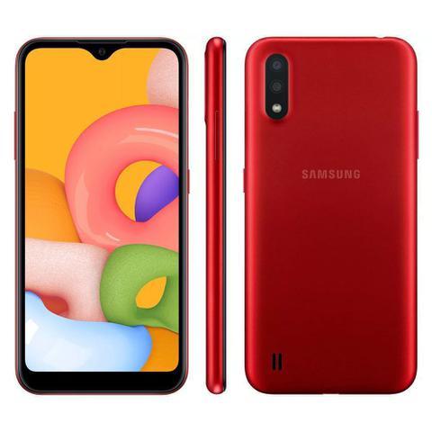 Imagem de Smartphone Samsung Galaxy A01 32GB Tela 5.7 Câmera Dupla Android 10 Dual Chip
