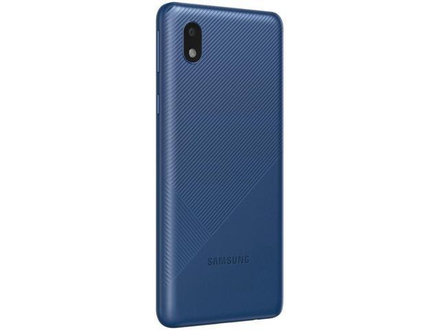"""Imagem de Smartphone Samsung Galaxy A01 Core 32GB Azul - Quad-Core 2GB RAM Tela 5,3"""" Câm. 8MP + Selfie 5MP"""
