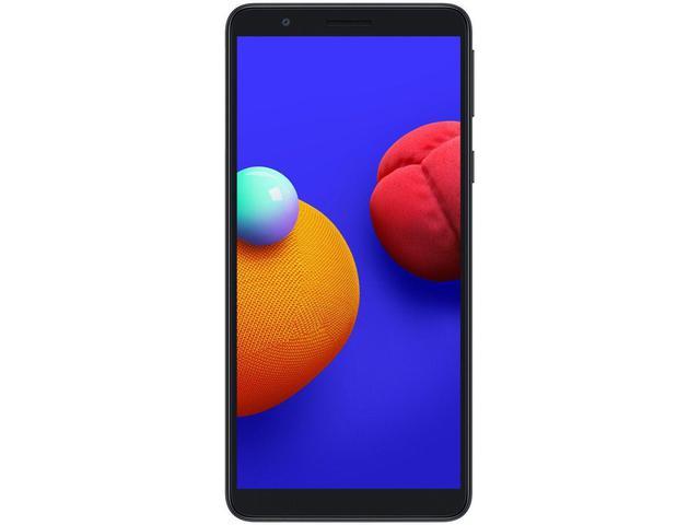 """Imagem de Smartphone Samsung Galaxy A01 Core 32GB Preto - Quad-Core 2GB RAM Tela 5,3"""" Câm. 8MP + Selfie 5MP"""