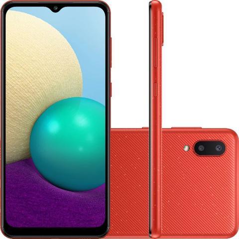 Imagem de Smartphone Samsung Galaxy A02 32GB 4G Wi-Fi Tela 6.5'' Dual Chip 2GB RAM Câmera Dupla - Vermelho