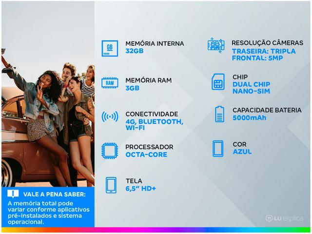 Imagem de Smartphone Samsung Galaxy A02s 32GB Azul 4G