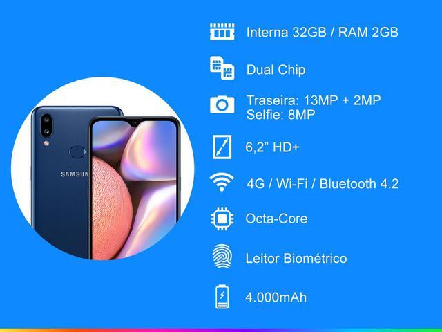 Imagem de Smartphone Samsung Galaxy A10s 32GB Azul