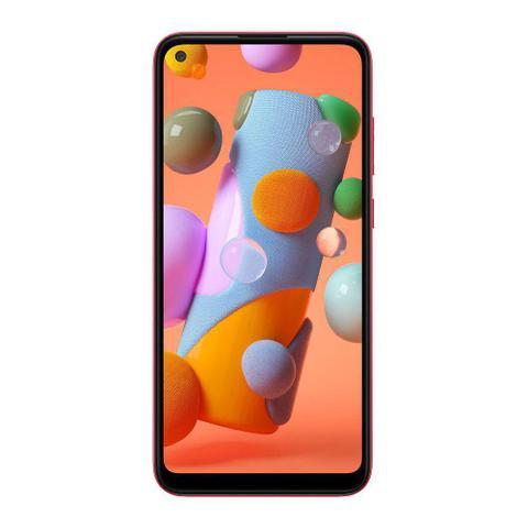 Imagem de Smartphone Samsung Galaxy A11 64GB Câmera Tripla 13MP 5MP 2MP Frontal 8MP Android 10.0 Vermelho