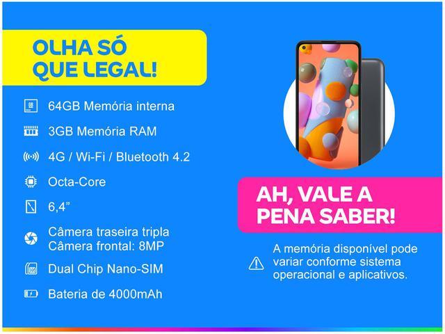 Imagem de Smartphone Samsung Galaxy A11 64GB Preto 4G