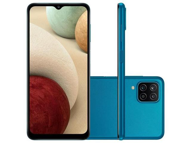 Celular Smartphone Samsung Galaxy A12 A125m 64gb Azul - Dual Chip