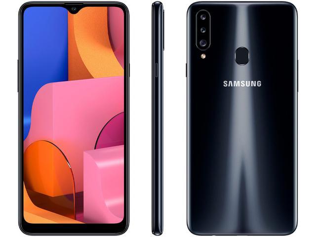 Imagem de Smartphone Samsung Galaxy A20s 32GB Preto 4G