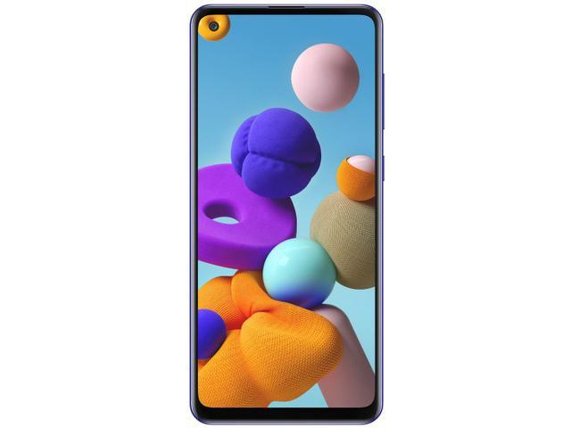 Imagem de Smartphone Samsung Galaxy A21s 64GB Azul 4G