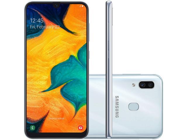 Imagem de Smartphone Samsung Galaxy A30 64GB Branco 4G