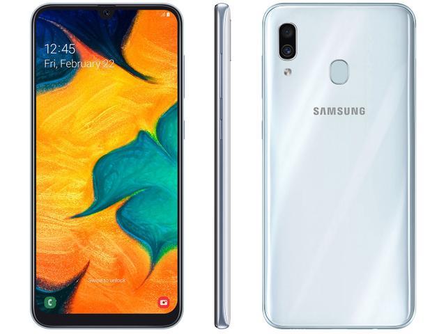 Celular Smartphone Samsung Galaxy A30 A305 64gb Branco - Dual Chip