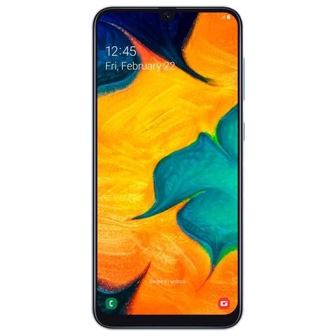 Imagem de Smartphone Samsung Galaxy A30 64GB Dual Chip 4G Tela 6,4 Câmera 16MP e 5MP Frontal 16MP Android 9 Branco