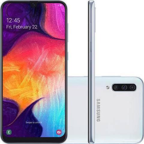 Imagem de Smartphone Samsung Galaxy A50 64GB 4G Tela 6.4 Tripla Traseira 25MP+5MP+8MP - Preto
