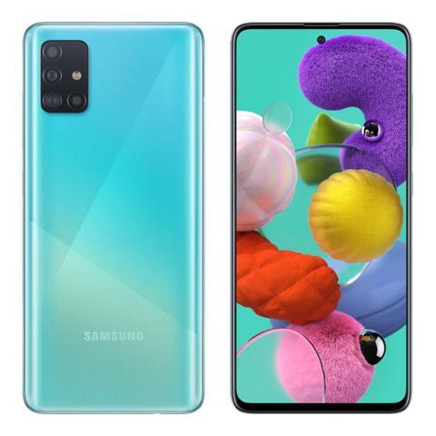 Imagem de Smartphone Samsung Galaxy A51, 128GB, 48MP, Tela 6.5, TV Digital, Azul