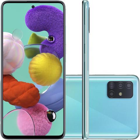Imagem de Smartphone Samsung Galaxy A51 Android Tela 6,5 Super Amoled Octa-Core 2.3 128GB 4G Câmera 48MP 12MP 5Mp - Azul