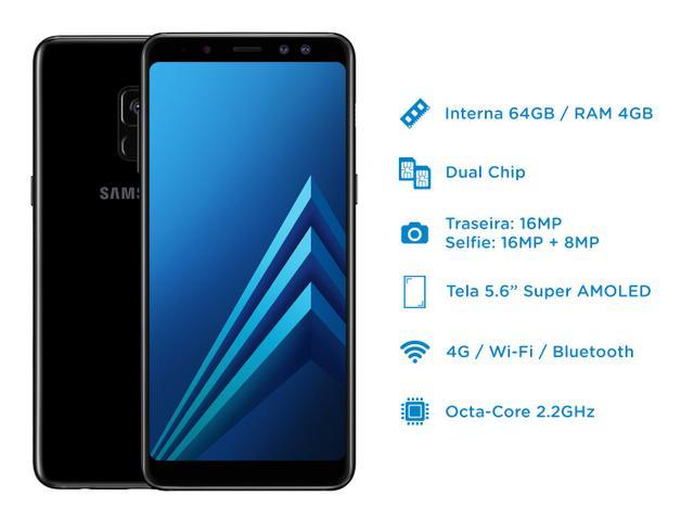 Imagem de Smartphone Samsung Galaxy A8 64GB Preto