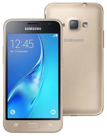 Imagem de Smartphone Samsung Galaxy J1 2016 Duos - Tela 4.5, Quad Core, 8GB, Dual Chip - Dourado - SM-J120H/DS