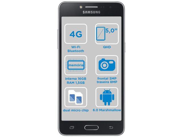 Smartphone Samsung Galaxy J2 Prime TV 16GB Preto - Dual Chip 4G Câm ... 2cad91fd05