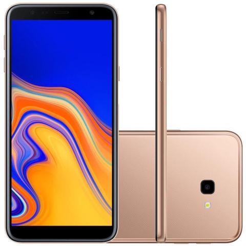 Imagem de Smartphone Samsung Galaxy J4+ 32GB, Tela infinita de 6, Câmera Traseira 13MP, Câmera Frontal de 5MP, 2GB RAM, Dual Chip, Android 8.1  Dourado