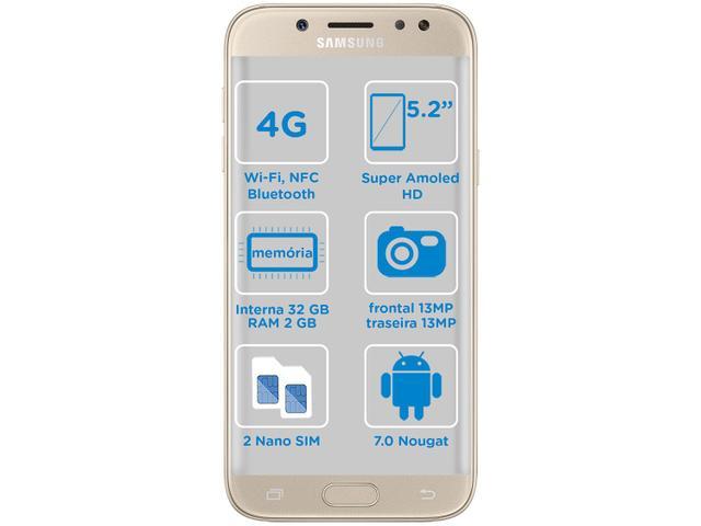 Imagem de Smartphone Samsung Galaxy J5 Pro 32GB Dourado