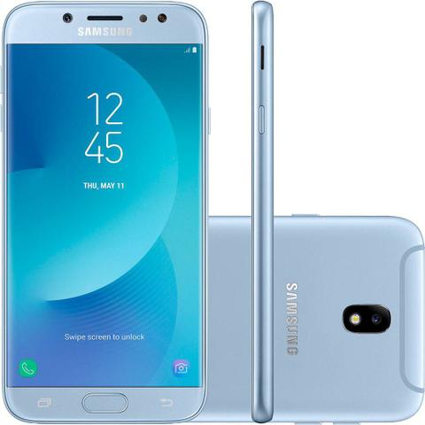 Imagem de Smartphone Samsung Galaxy J5 Pro Azul 32GB, Tela 5.2, Android 7.0, Cmera de13MP com Flash LED, Dual Chip, Processador Octa Core e 2GB de RAM