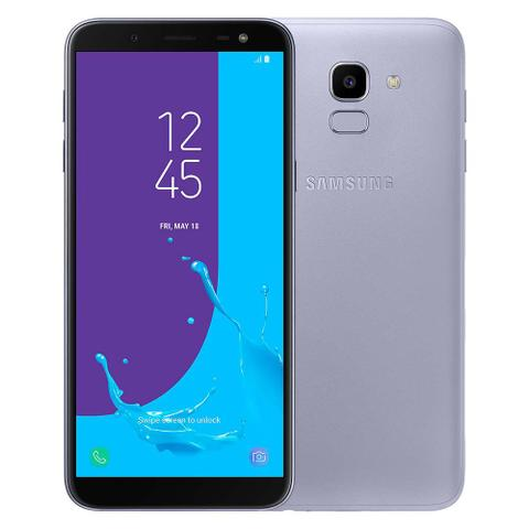 Imagem de Smartphone Samsung Galaxy J6 Camera 13MP, TV Digital HD, Dual Chip, Android, 8.0, Processador Octa Core e 2GB de RAM, 64GB, Prata, Tela de 5,6