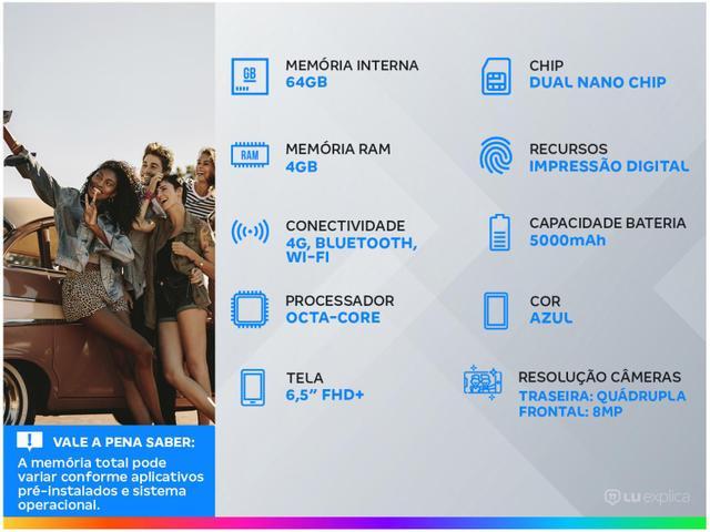 Imagem de Smartphone Samsung Galaxy M12 64GB Azul 4G