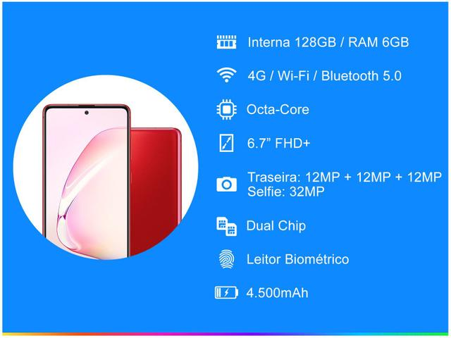 Imagem de Smartphone Samsung Galaxy Note 10 Lite 128GB