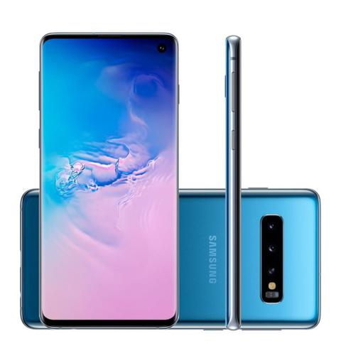 """Imagem de Smartphone Samsung Galaxy S10 128GB 4G 9.0 Tela Infinita 6.1"""" Câmera Tripla  Azul"""