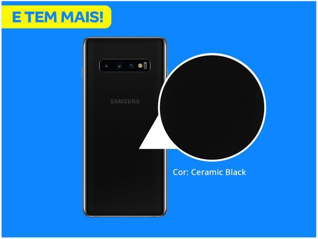 Imagem de Smartphone Samsung Galaxy S10+ 128GB Ceramic Black