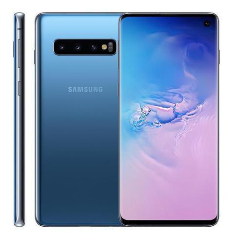 """Imagem de Smartphone Samsung Galaxy S10, 6,1"""", 128GB, Câmera Tripla 12MP + 16MP + 12MP, Azul"""
