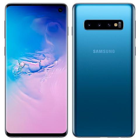 Imagem de Smartphone Samsung Galaxy S10, Dual Chip, Azul, Tela 6.1