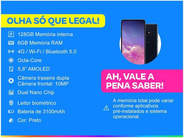 Imagem de Smartphone Samsung Galaxy S10e 128GB Preto 4G