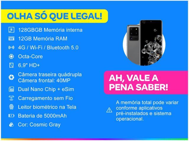 Imagem de Smartphone Samsung Galaxy S20 Ultra 128GB Cosmic