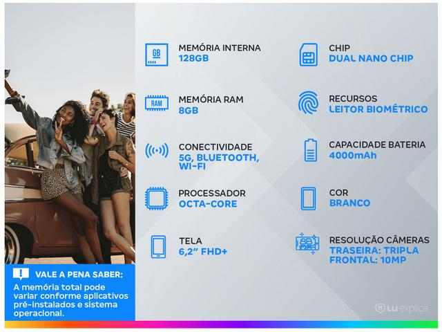 Imagem de Smartphone Samsung Galaxy S21 128GB Branco 5G