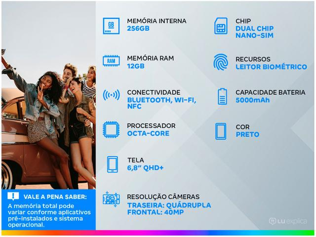 Imagem de Smartphone Samsung Galaxy S21 Ultra 256GB Preto 5G