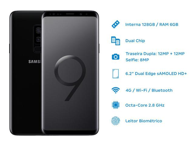 Imagem de Smartphone Samsung Galaxy S9+ 128GB Preto 4G